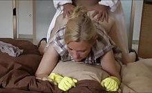 Dirty Tina – Putze ohne Kondom gefickt