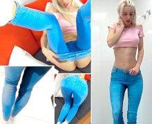 CandyXS – In die Jeans gepisst und geil gefickt